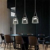 Post-modern Glass Pendant Lights Mona Led Belt Hanging Lamp Living Room Kitchen Light Fixtures Home Decor Suspension Luminaire