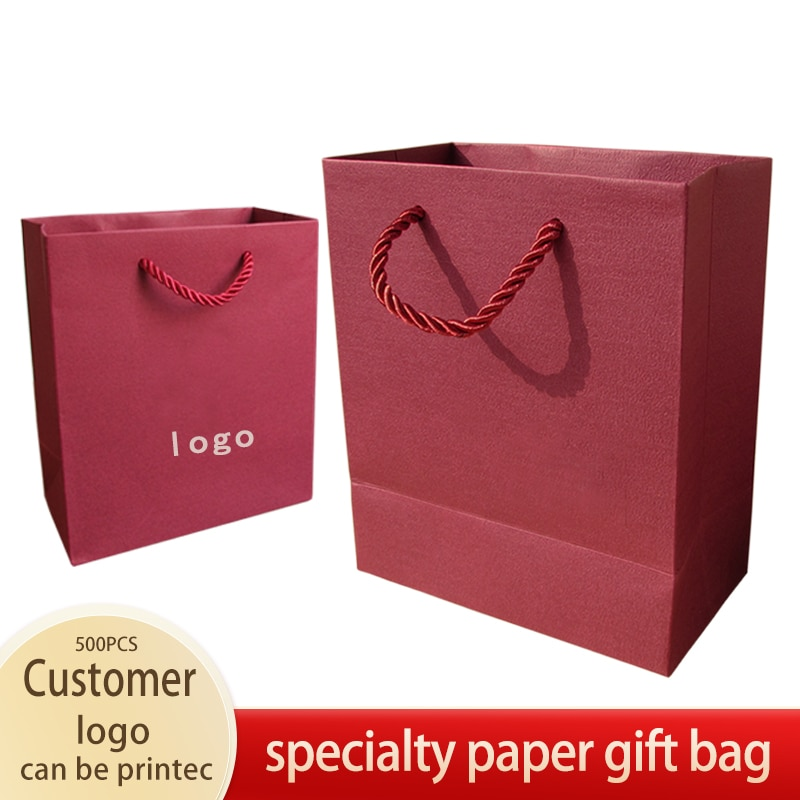 Specialty Paper Bag with Handles Wedding Party Gift Bags DIY Multifunction Fashionable Jewerly Packing