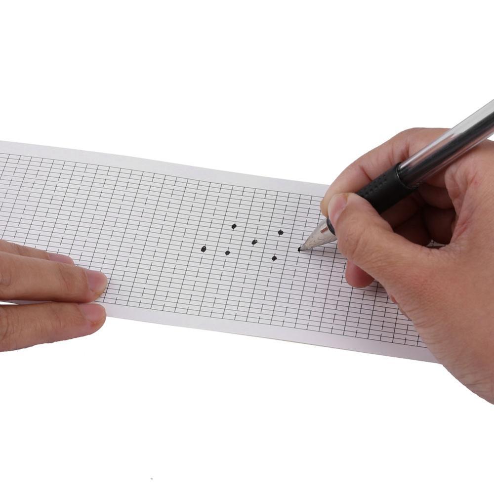 10 unids/set de cinta de papel de mano en blanco para 30 notas DIY para componer la cinta cigüeñal en blanco caja de música