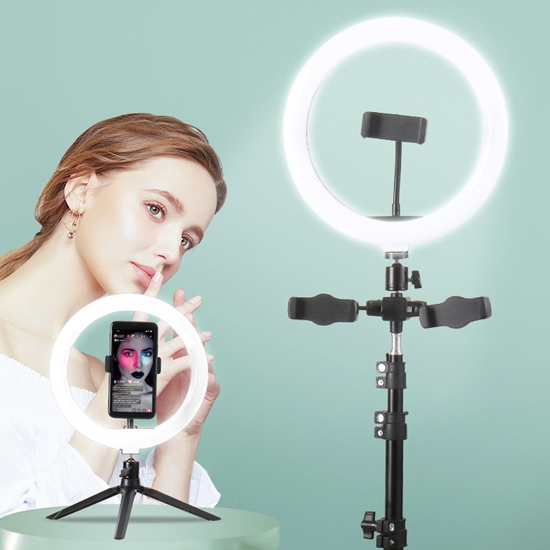 supon photo video studio light stand 10ft 300cm air cushion for photo stuido strobe lamp softbox and led right light LED Selfie Ring Light Photography Ring Light USB Dimmable Lamp Mobile Stand Holder For Youtube Makeup Video Live Photo Studio