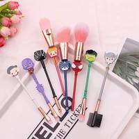 six types makeup brush set loose powder brush lip powder brush remaining christmas gift for girl makeup brush