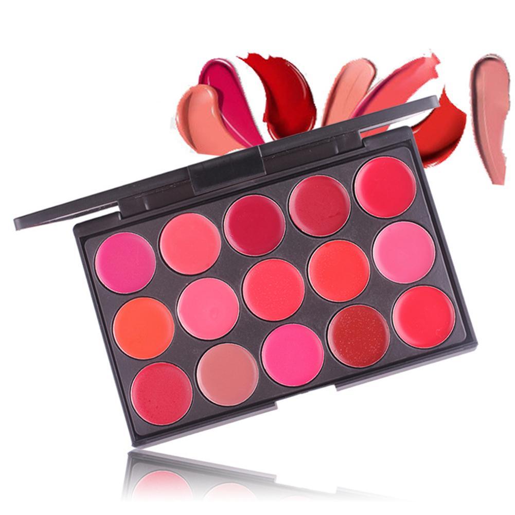 15 Colors Lipstick Palette Moisturizer Lip Gloss Matte Beauty Make Up Cosmetic Matte Lipstick Palette Lip Stick Cream Waterproof