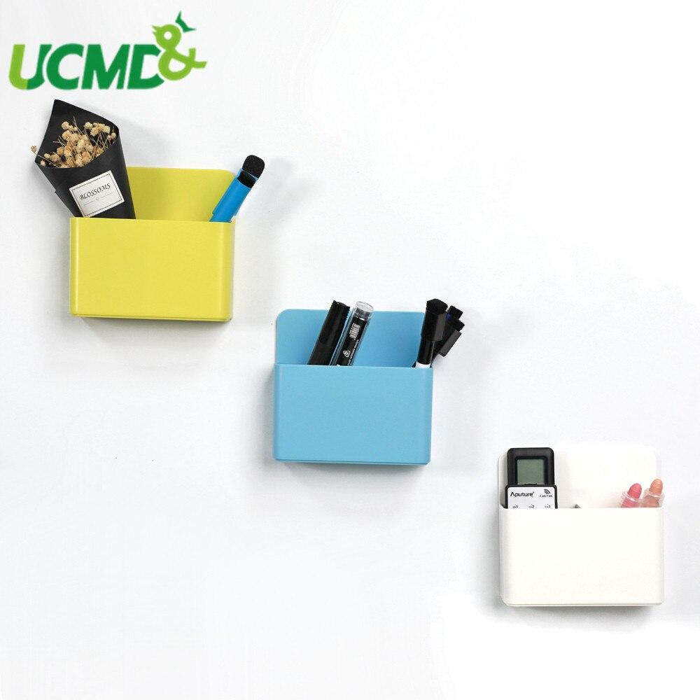 Geladeira ímã de armazenamento plástico organizador caixa magnética quadro branco marcadores lápis caneta giz caixas organizador caixa cozinha escritório em casa