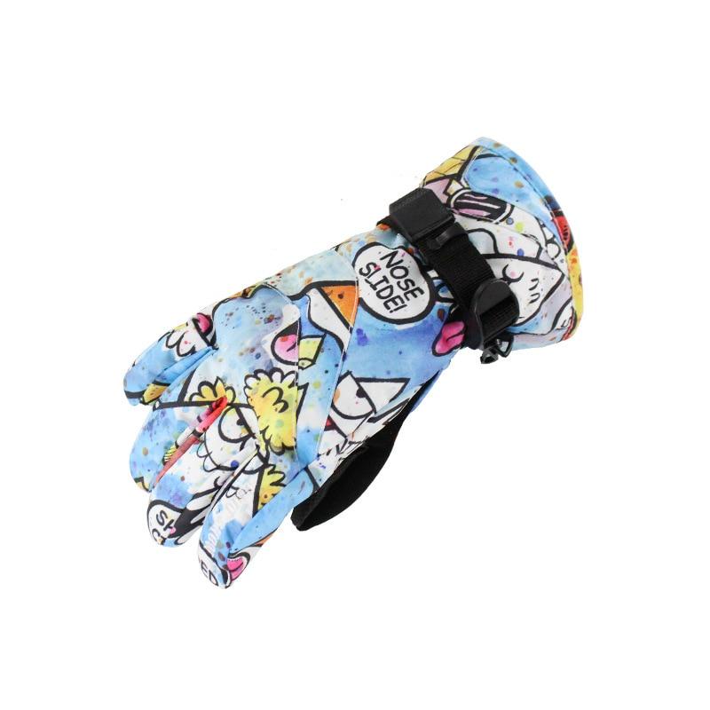 Gsou зимние детские лыжные перчатки для сноуборда горные зимние лыжные перчатки для мальчиков и девочек ветрозащитные водонепроницаемые зим...