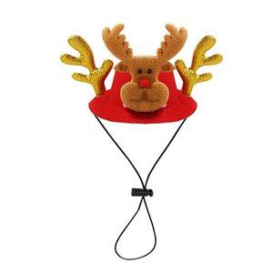 Adjustable Shiny Fluffy Antlers Elk Horns Pet Cat Dog Puppy Christmas Cap Pet Festival Hat Christmas Prop Cosplay Headwear