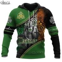 hx newest st patricks day irish 3d print hoodie men women tracksuit autumn long sleeve pullover fashion tops drop shipping