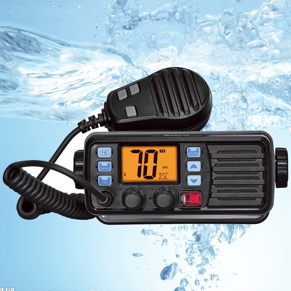 Recent RS-507MG VHF Marine Radio With GPS 25W Walkie talkie IP67 Waterproof Mobile Boat VHF Radio Station