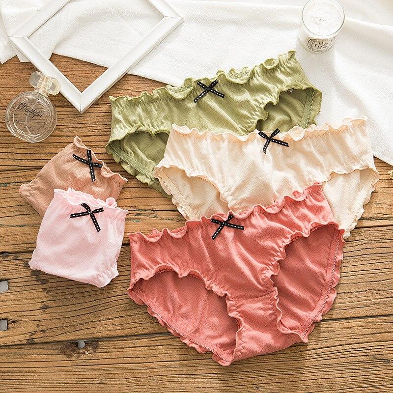 SP & CITY-ملابس داخلية نسائية من الدانتيل ذات ثنيات ، وسراويل داخلية من القطن الصلب ، وملابس داخلية جميلة للبنات