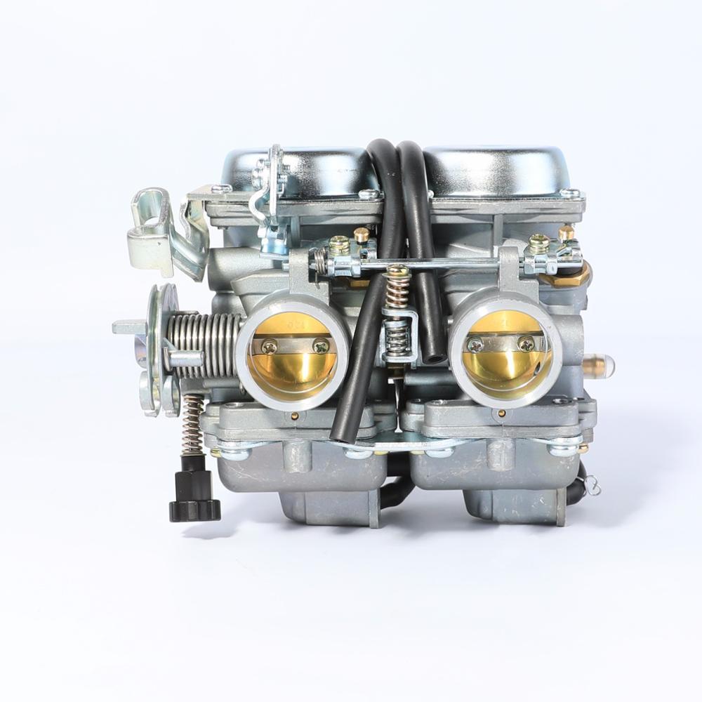 PD26JS 26mm 34mm carburador doble 200cc 300 CC 250cc Trail Dirt Quad Bike ATV Regal Raptor motocicleta doble cilindro