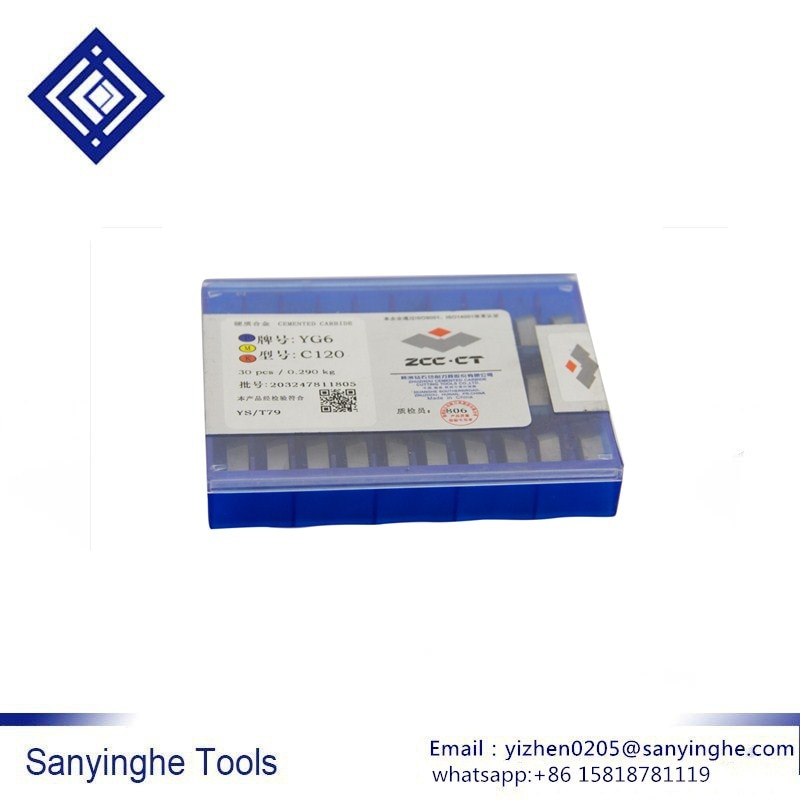 C120 YG6 / YG8 / YW1 / YW2 / YT5 / YT14 / YT15 إدراج لحام كربيد إدراج ملحومة (30 قطعة/السلع)