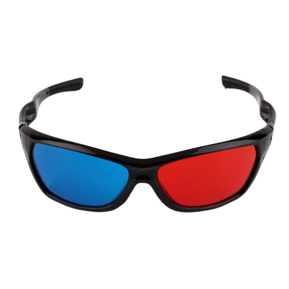 3D gafas Universal marco blanco rojo azul anaglifo 3D gafas Visoin de vidrio para anaglifo Dimensional película DVD juegos Video TV