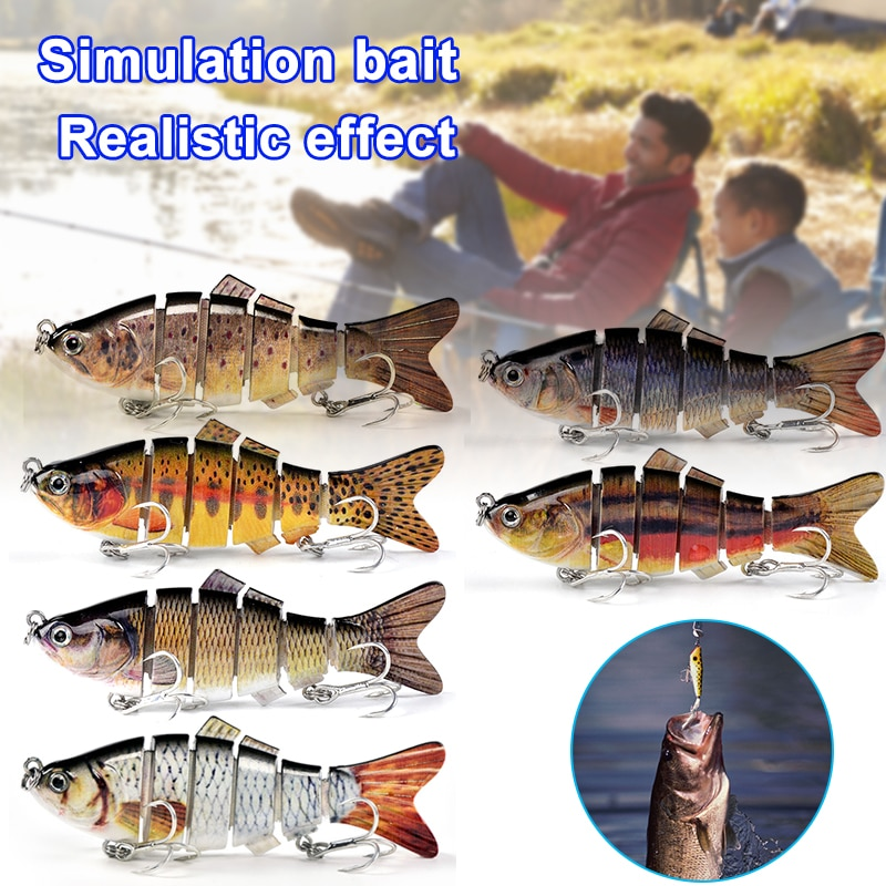 Robotic Swimming Lures Auto Electric Lure Bait Fishing Wobblers For 4-Segement Swimbait USB Recharge
