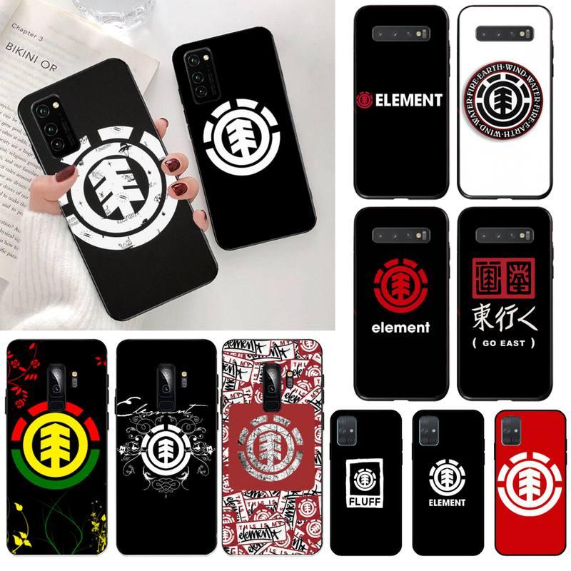 HPCHCJHM elemento logotipo negro caso de teléfono para Samsung S20 plus Ultra...