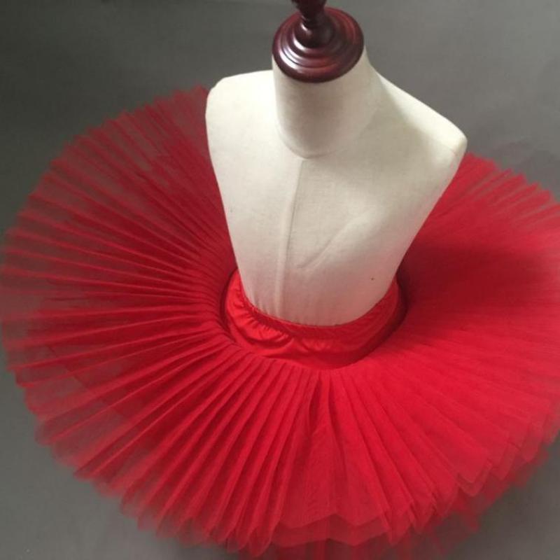 Tutú profesional de Ballet para niños, falda práctica de Ballet, color blanco, rosa, negro y rojo