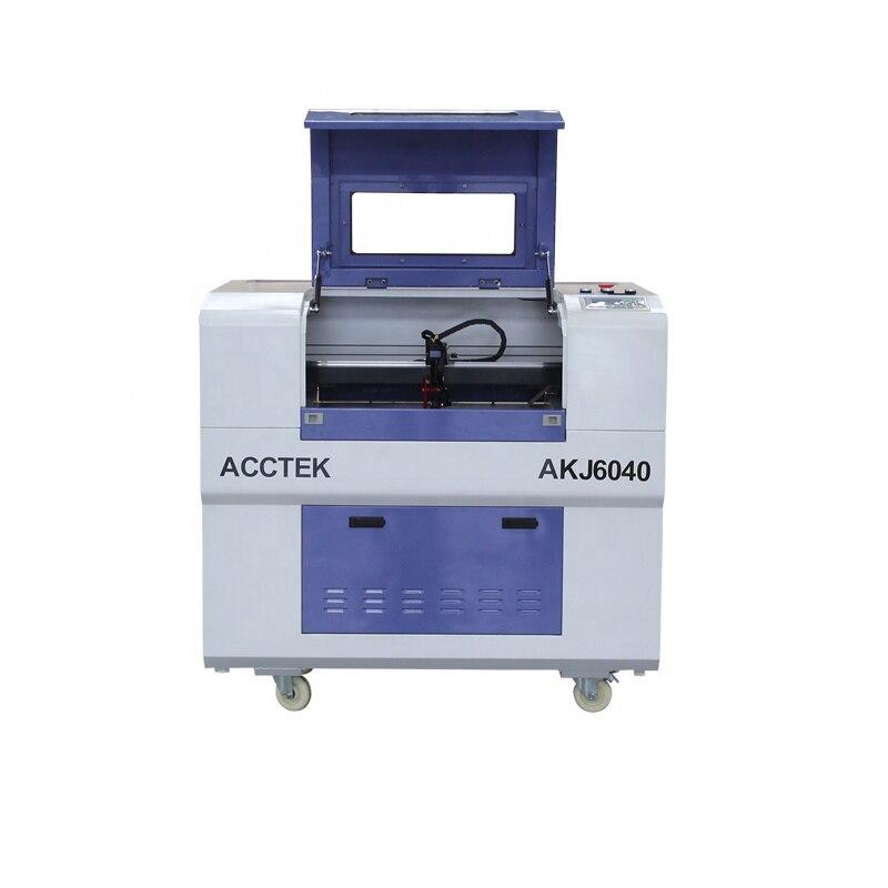 Китай Jinan AccTek мини домашний офис простая работа гравировка резка древесины бумаги акрила лазерная машина AKJ6040