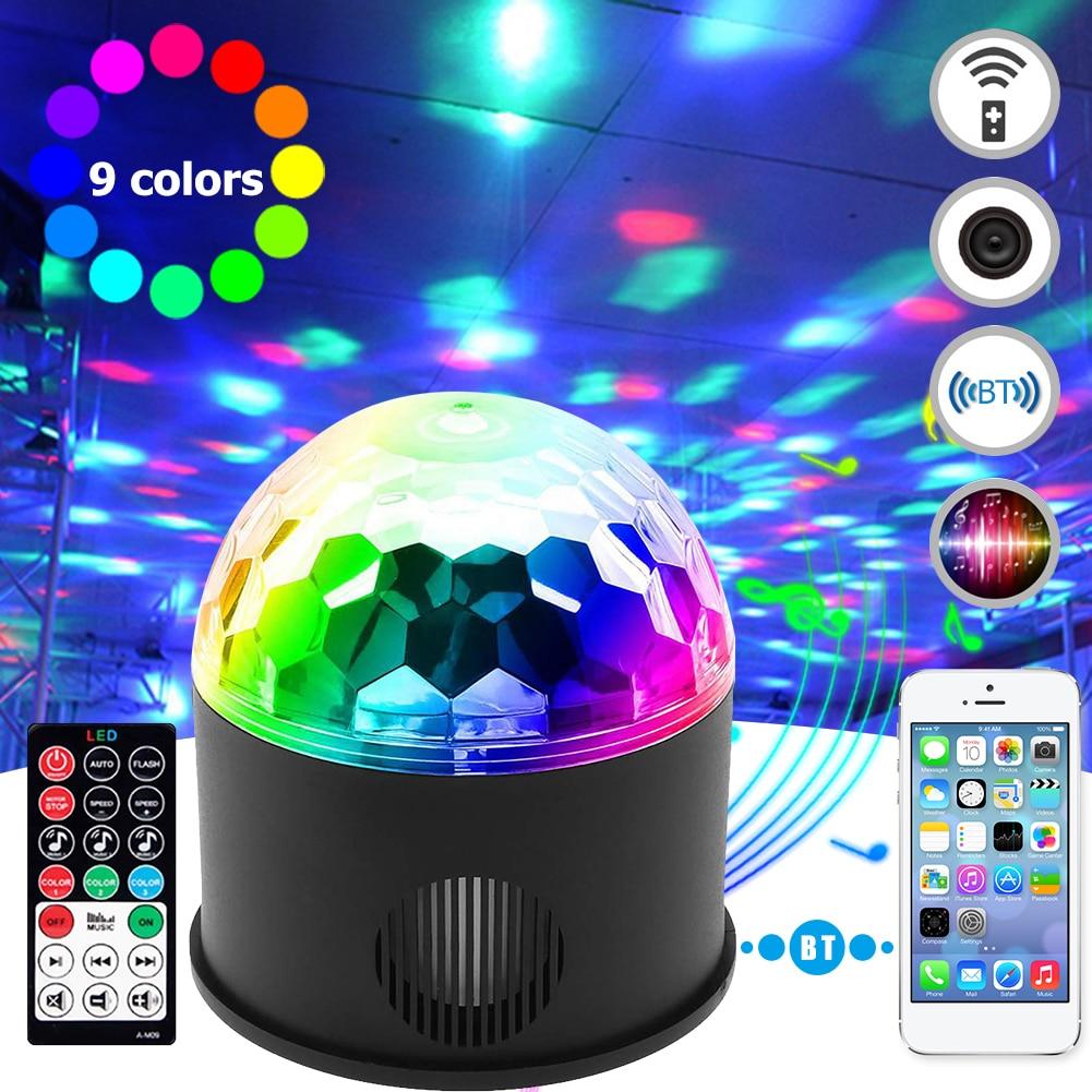 bola de discoteca bluetooth luz discoteca controle remoto rgb festa luz som ativado