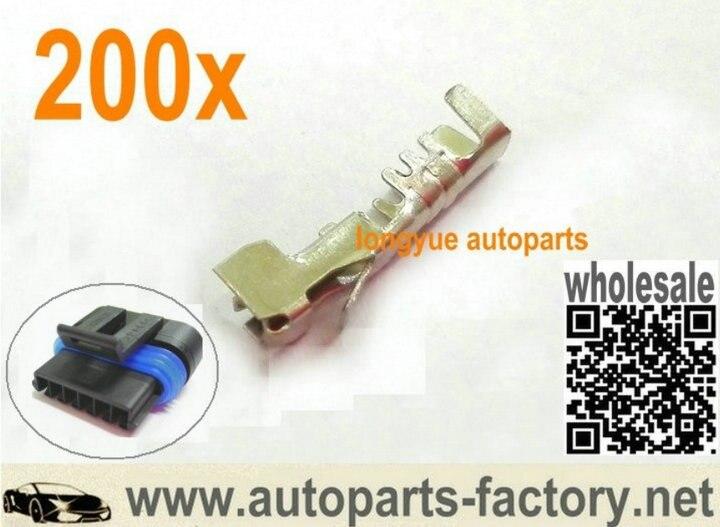 Longyue 200 pces maf sensor & motor ocioso & ar temp iat sensor gm terminais conector fêmea
