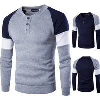 2020 mens spring sweater male long sleeve tops cotton slim fit solid color slim fit casual streetwear sweatshirts