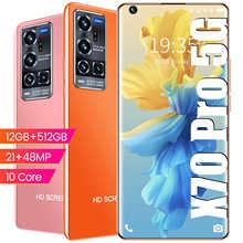 RUGUM X70 Pro 12 Гб оперативной памяти 512 ГБ Rom 5G Dual SIM разблокировать смартфон Android 10,0 MTK 6799 Deca Core, размер экрана мобильных телефонов GPS