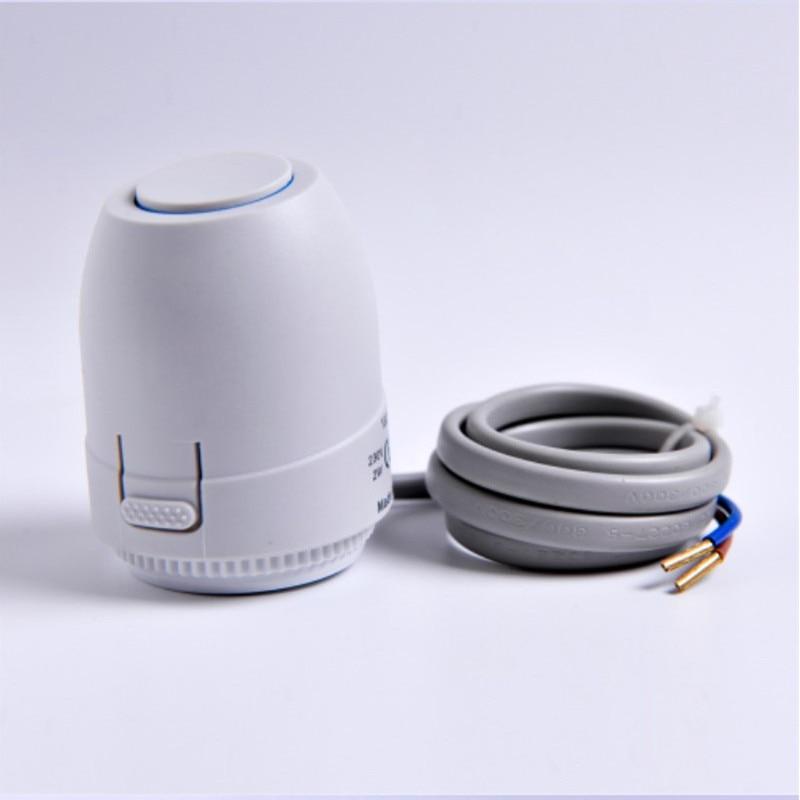 Напольный нагревательный клапан NC AC 230V электрический тепловой привод коллектор для подогрева пола термостат