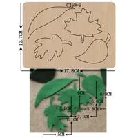 new leaf wooden die scrapbooking c 359 9 cutting dies