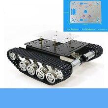 Châssis de réservoir en métal absorbant les chocs TS100 Smart chenille Robot plate-forme panneau acrylique gratuit pour Arduino/NodeMCU/framboise Pi bricolage
