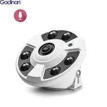 Gadinan H.265 caméra IP 1.7mm objectif Fisheye 5MP 4MP panoramique ONVIF caméra IP extérieure Audio CCTV Xmeye vue de téléphone DC12V/ POE 48V