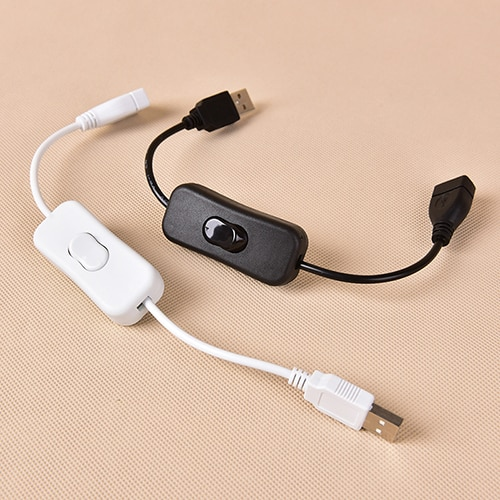 Cable USB de 28cm con interruptor macho a hembra, Cable de encendido...