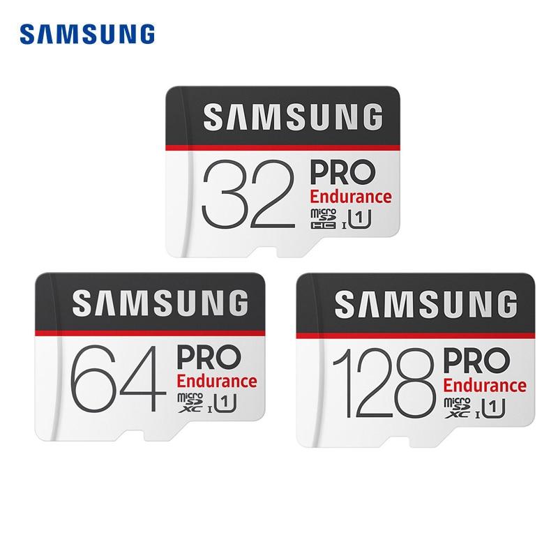 New SAMSUNG PRO Endurance Memory Card Micro SD Card 100MB/s 128GB 64GB SDXC 32GB SDHC U1 Class10 TF Card With Adapter