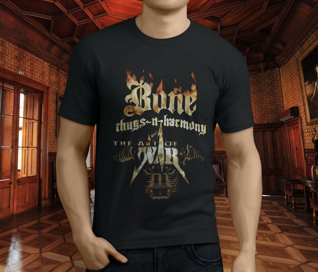 New Bone Thugs N Harmony Art Of War Rap Hip Hop Mens Black T-Shirt S-3XL Festive Plus Size TEE Shirt