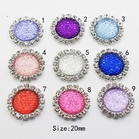 new hot sale 10pcs 20mm round diy jewelry snowflake accessories rhinestone base dotted hat decoration making