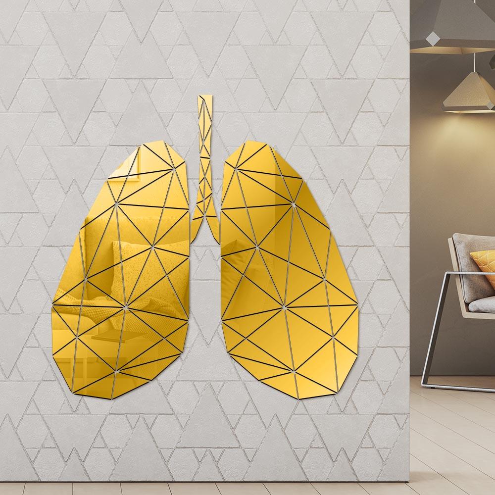 Alveolar sistema respiratorio acrílico espejo pegatinas de pared anatomía del pulmón arte respiratorio terapia médica Oficina Decoración spechio