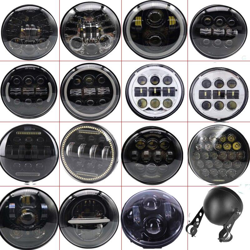 الكروم 5.75 بوصة LED المصباح فارو led موتو DRL 50W الجبهة القيادة دراجة نارية المصابيح الأمامية ل داينا سبورتستر سوفتيل 5 3/4