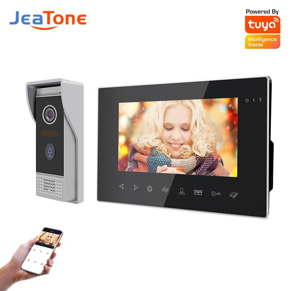 Видеодомофон Jeatone, Wi-Fi, AHD720P, беспроводной дверной звонок для домашней квартиры