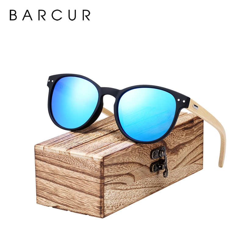 BARCUR High Quality Vintage Square Sunglasses Men Women Glasses Bamboo Legs Travel Eyewear Wood Sun glasses