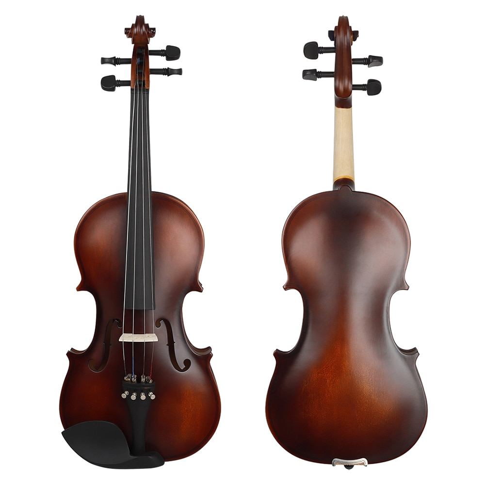 Retro Matte Violin 4/4 Solid Wood Natural Acoustic Violin Basswood Fiddle Professional Musical Instrument With Case for Beginner enlarge
