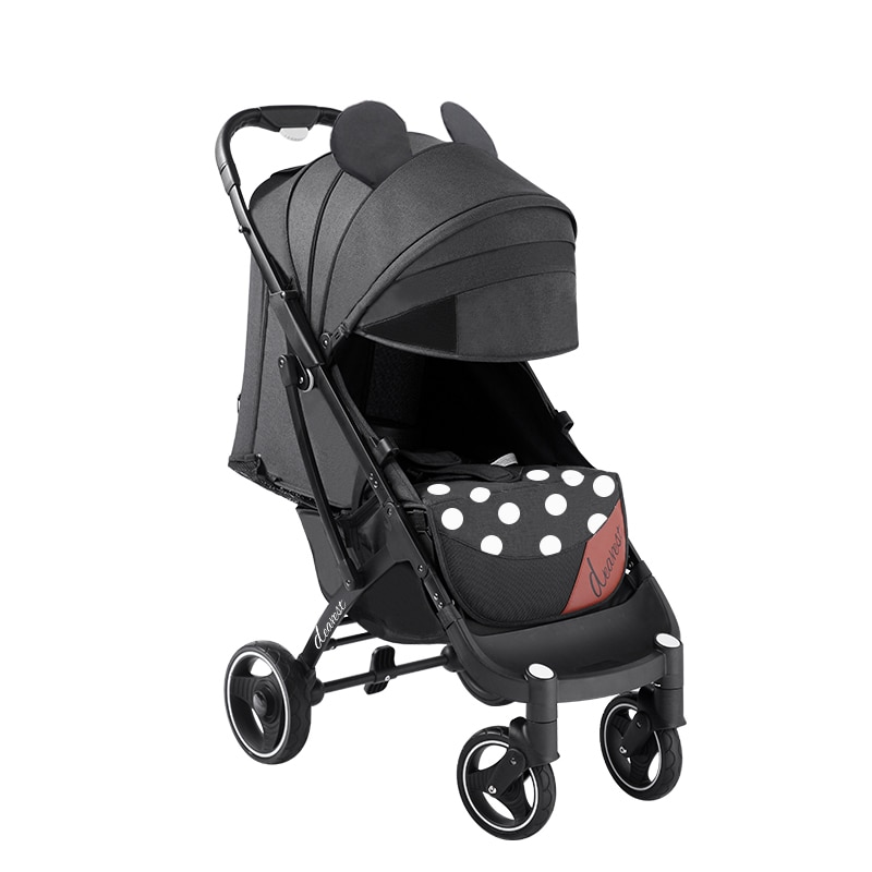 عربة أطفال أعز 718 مناسبة للأطفال 0-3 ، عربة أطفال خفيفة ومريحة ذات مفتاح واحد