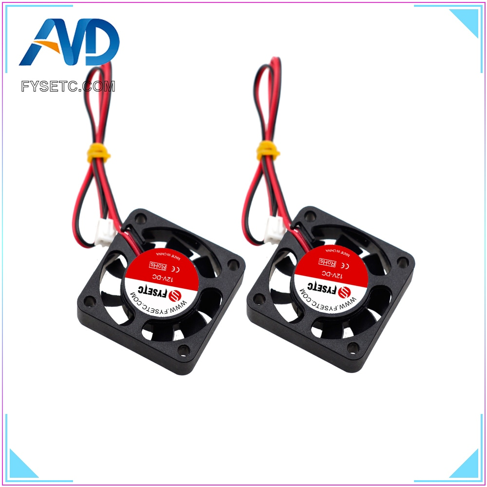 AliExpress - 4pcs 4010 Cooling Fan 12V 2 Pin with Dupont Wire Brushless 40*40*10 Cool Fans Part Quiet DC 40m Cooler Radiato 3D Printers Parts