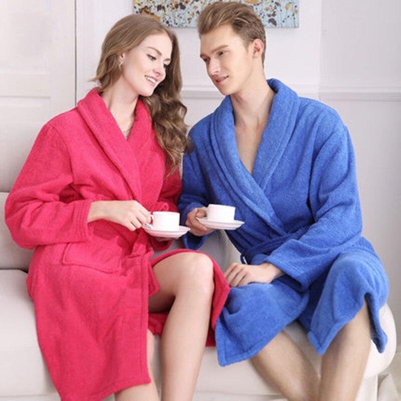 Махровый банный халат унисекс, 100% хлопок, для женщин и мужчин