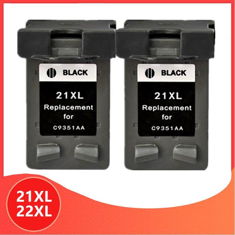 2x negro 21 22 XL cartucho de tinta HP 21 22 para HP21 para HP22 21XL 22XL Deskjet serie F2180 F2280 F4180 F380 impresora 380