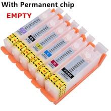 Recharge PGI-480 480 cli 481 XXL vide cartouche dencre rechargeable puce permanente pour canon TS8140/TS8240/TS8340/TS9140 imprimante