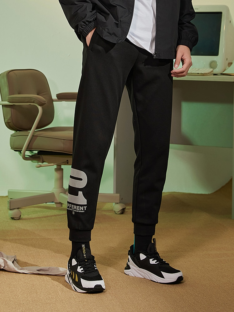 Sports Pants Spring and Autumn Men's Thin Casual Pants Ankle-Length Knitted Ankle-Length Trousers Sweatpants Men