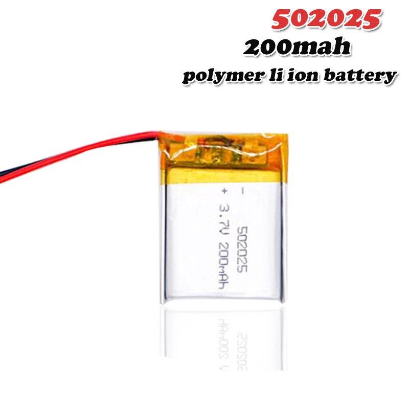 200mAh 3,7 V 502025 литий-полимерный литий-ионный аккумулятор для динамик для игрушек тахограф MP3 MP4 GPS Bluetooth Lipo cell