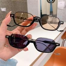 Retro Decorative Glasses Brown Sunglasses Women Luxury Design  Shades Pink Fashion Vintage Small Fra