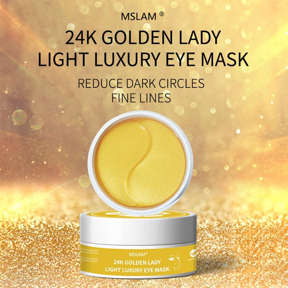 24K Gold Foil Remove Dark Eye Mask Moisturizing Film Repair Patches Crystal Collagen Gel Skin Care