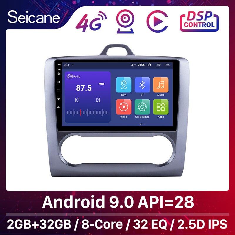 Seicane Für 2004 2005 2006-2011 Ford Focus Exi AUF Android 9,0 2 DIN 9 Zoll GPS Navigation Touchscreen quad-core Auto Radio 3G
