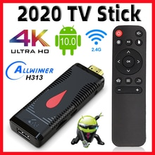 2020 nouveau Mi ni TV Stick X96 S400 Version globale 2GB 16GB Android 10 4-Core 4K 60fps H.265 2.4G Wifi Youtube X96 TV Box Dongle