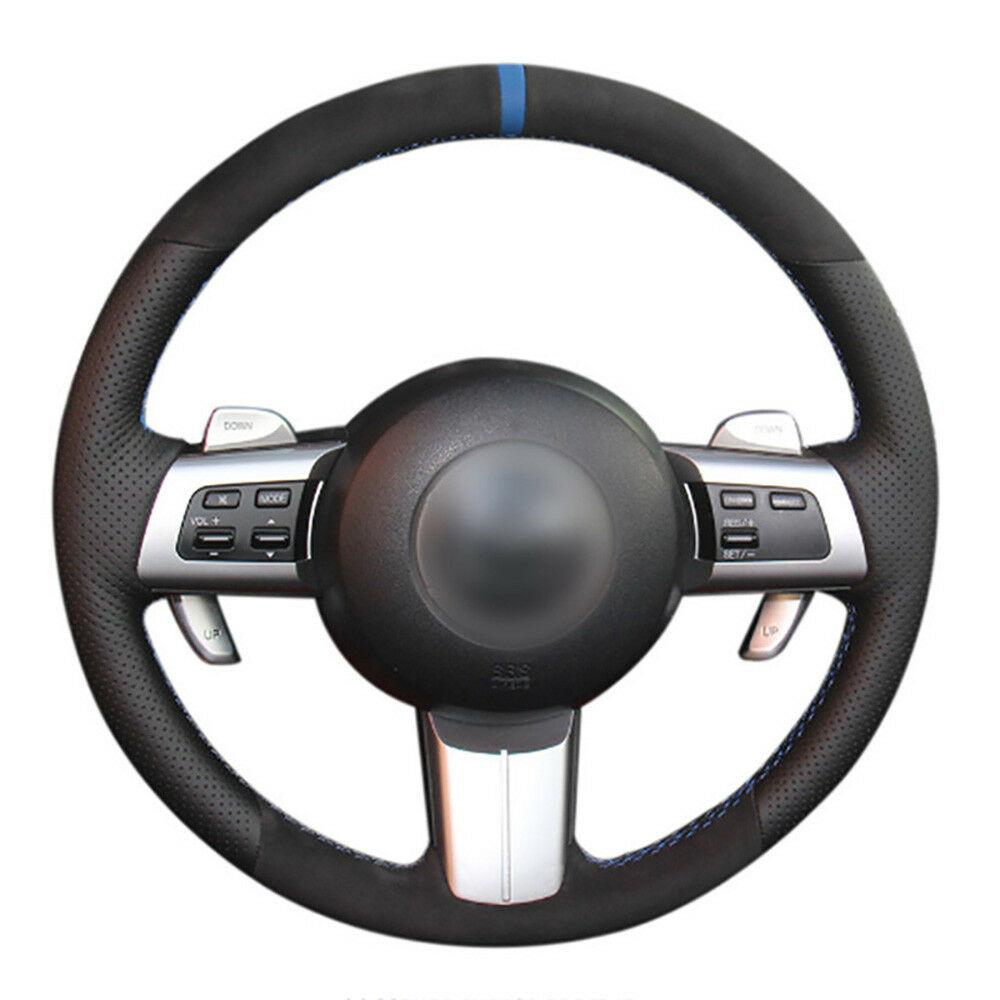 DIY personalizado gratis Alcantara volante puntada en cubierta de para Mazda MX-5