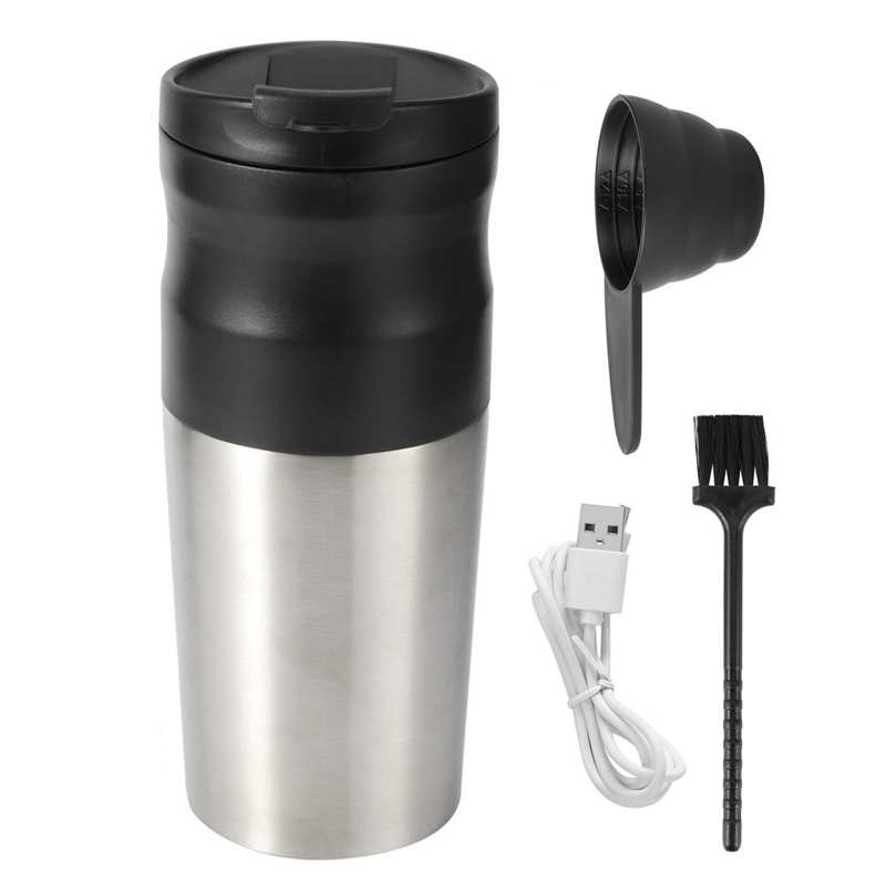 USB Rechargeable Coffee Grinder Electric Bean Mill Machine Stainless Steel Vacuum Cup Coffee Beans Grinder
