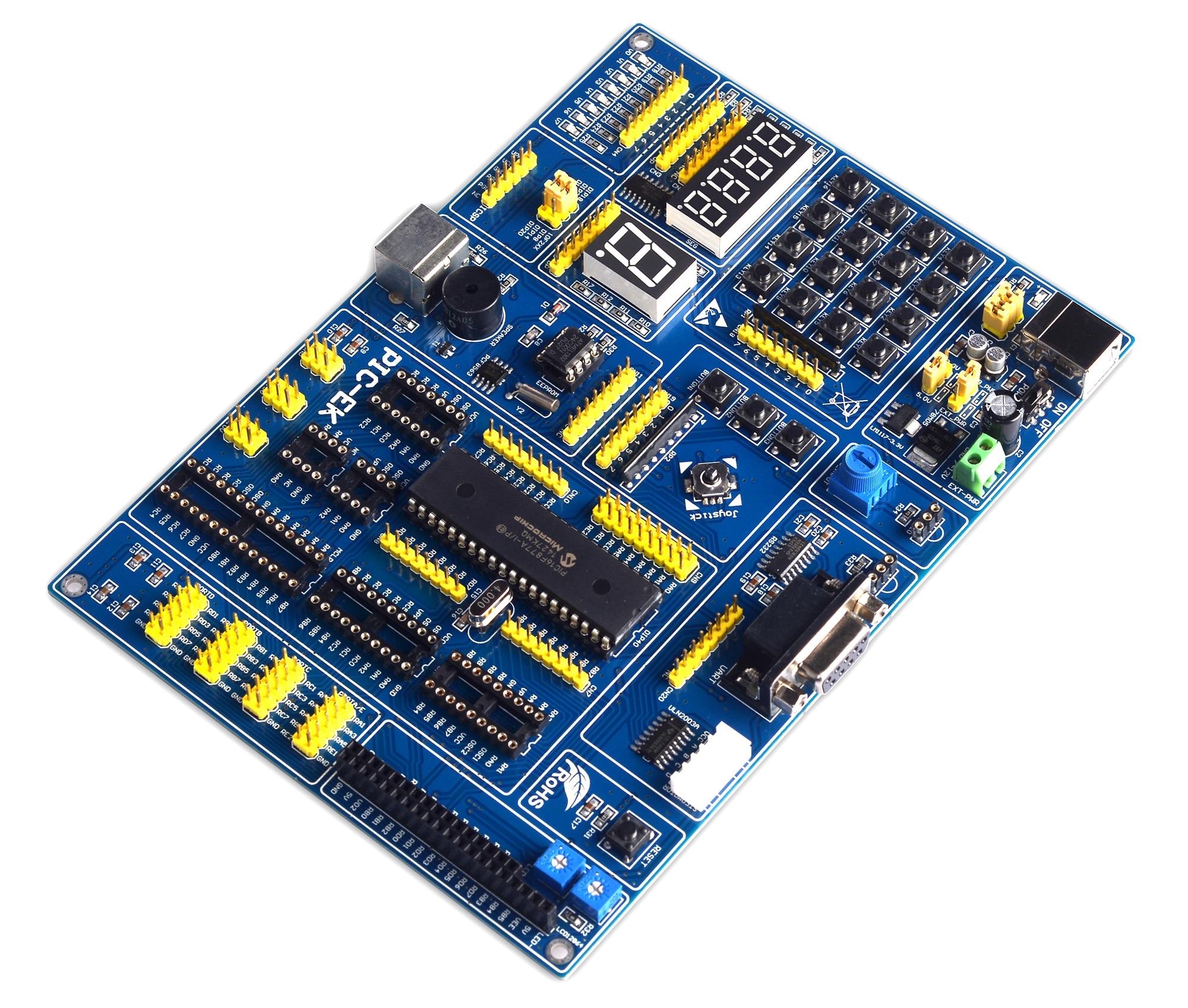 PIC aprendizaje sobre microcontroladores USB Placa de desarrollo PIC-EK con PIC18F4550 microcontroladores